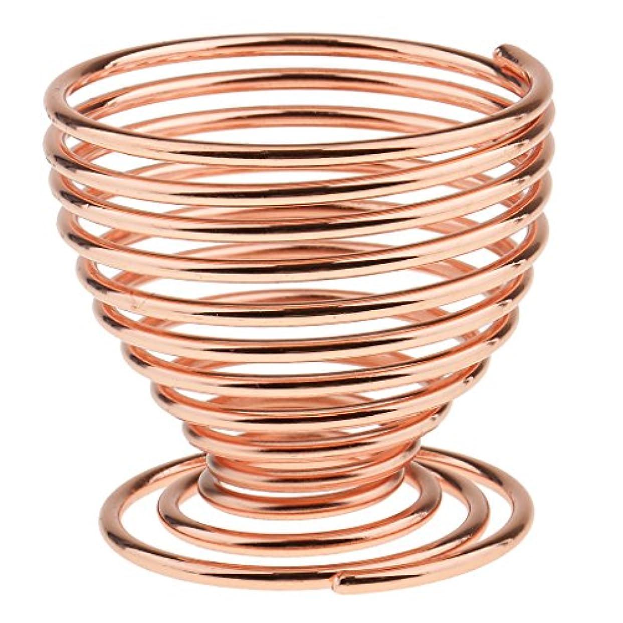 悪因子新鮮な真鍮3色選べる パフ スタンド メイク用具 パフホルダー パフ收納用 通風 清潔 便利ツール 乾燥しやすい - ローズゴールド