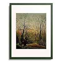 アンリ・ルソー Henri Julien Félix Rousseau 「At the edge of a forest. About 1886」 額装アート作品