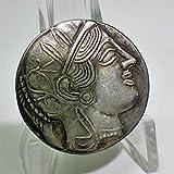 古代ギリシャ アッティカ アテナ テトラドラクマ金貨 レプリカ (銀貨)
