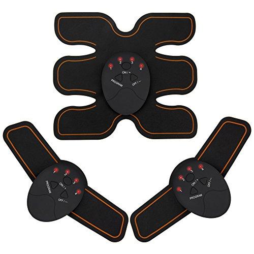 BNOYCEI EMS 腹筋ベルト 腕筋 腹筋トレーニング 高導電ジェルシート ダイエット「男女兼用 6モード」