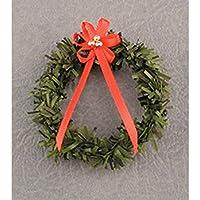 ドールハウスミニチュアクリスマスリースwith赤Bow