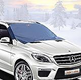 フロントガラス雪カバー–車用アイスワイパープロテクター–ノンスクラッチ磁石–頑丈 –強靭な材質–50x 62インチ–車の外装を綺麗に保ち氷から守る - バン - SUVに