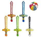 【ビニール玩具】 エクスカリバー(5種アソート)(20個入) / お楽しみグッズ(紙風船)付きセット [おもちゃ&ホビー]