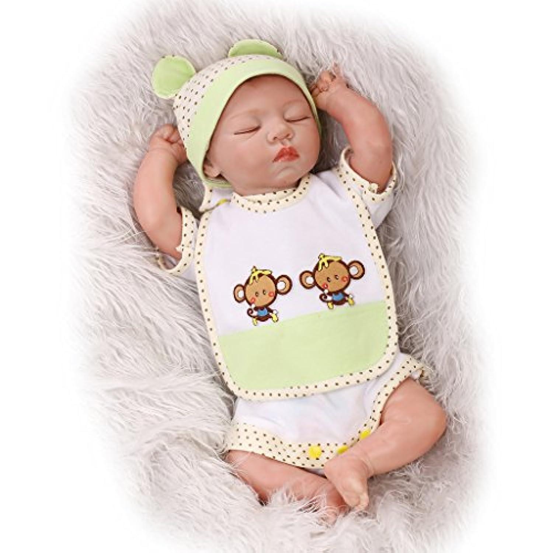 Nicery 生まれ変わった赤ちゃん人形ソフトシミュレーションシリコンビニール22インチ55cm磁気口生きているような少年少女おもちゃギフト Reborn Baby Doll RD55C125C