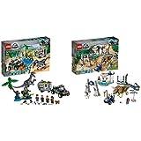 レゴ(LEGO)ジュラシック・ワールド バリオニクスの対決トレジャーハント 75935 ブロック おもちゃ 恐竜 男の子 & トリケラトプスの暴走 75937 ブロック おもちゃ 恐竜 男の子【セット買い】