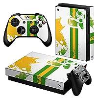 igsticker Xbox One X 専用 スキンシール 正面・天面・底面・コントローラー 全面セット エックスボックス シール 保護 フィルム ステッカー 003447