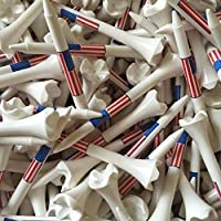 "Santa Superstore 100 3 1/4"" Pride Evolution American Flag USA Golf Tees White Wholesale [並行輸入品]"