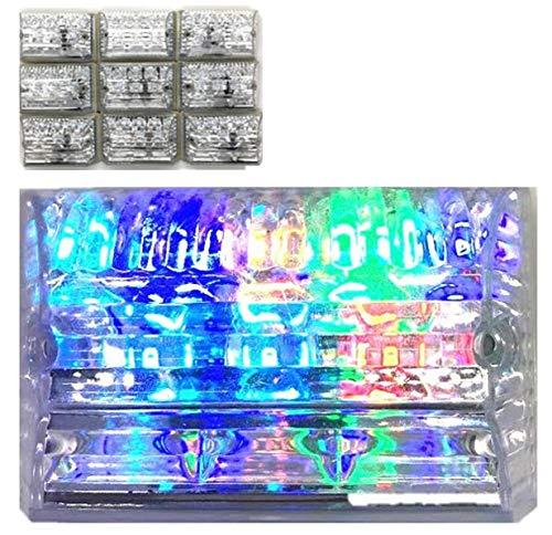 12V/24V 汎用 LED 角型 マーカー 10個セット ...
