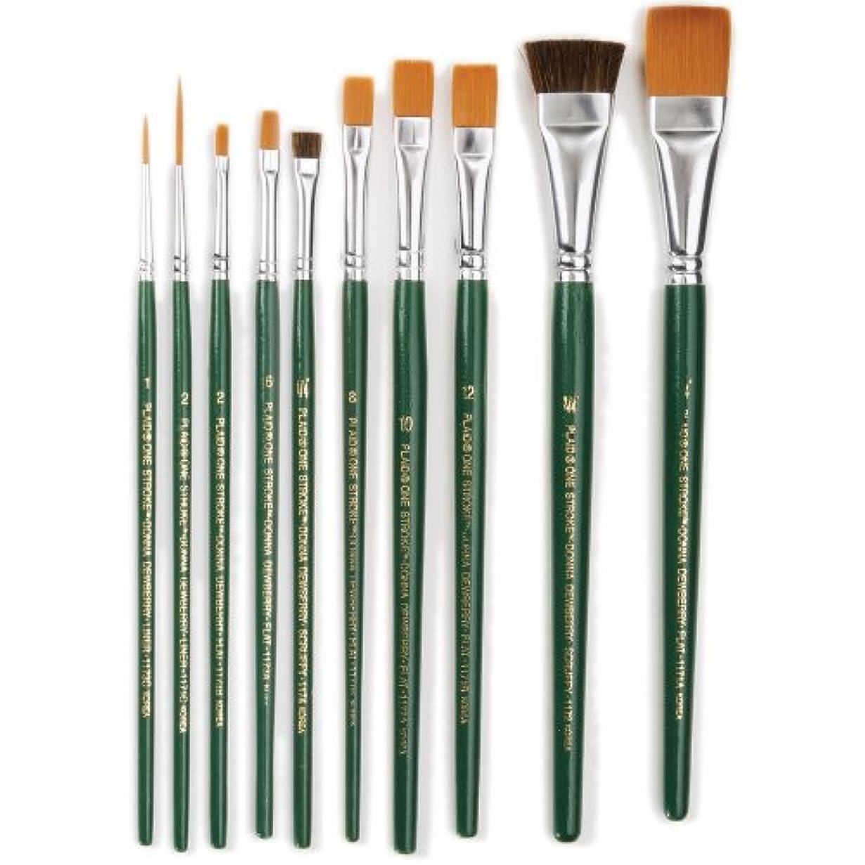 風砂利ブレンドOne Stroke Brush Set-10/Pkg