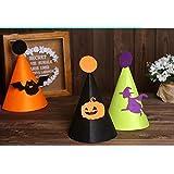ポリマーパーティー用品 誕生日パーティー小道具 ハロウィンハット 子供用 おもしろ魔女ハット パンプキンキャップ_ブラック