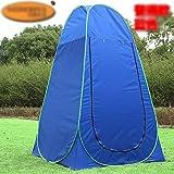 COM-SHOT 【 ワンタッチ 】 折り畳み テント 組立 簡単 設置 コンパクト 簡易 更衣室 レジャー ブルー 【 収納 バッグ 付き 】 MI-PRITNT2-BL