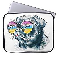 Recaso(レカソ)水彩画 熱帯子犬 ラップトップスリーブ おしゃれ 11.6/12インチ PCケース パソコンケース パソコンカバー ラップトップスリーブ ノートパソコン