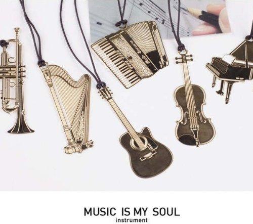 【6枚セット】音楽シリーズ ピアノ+ギター+アコーディオン+ハーブ+トランペ...