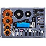 """Toolrock 23pcs 1/4"""" Mini Angle Air Die Grinder - Right Air Die Grinder Polishing Carving Tool Kit"""