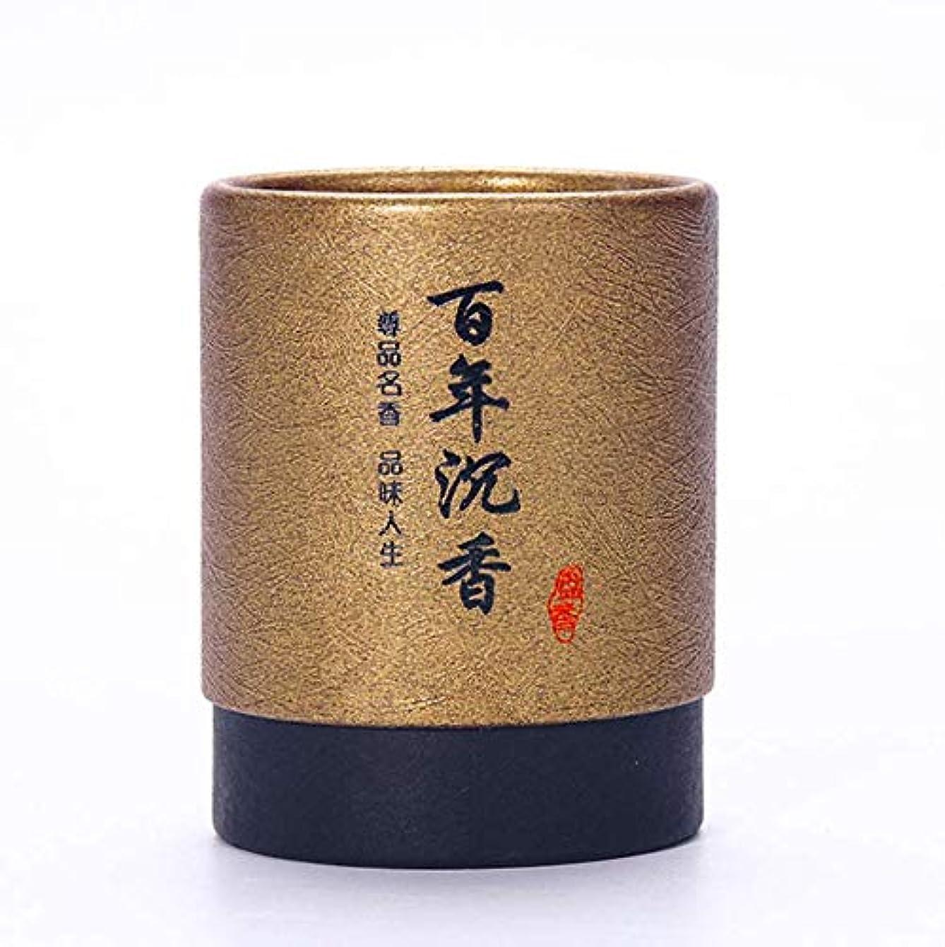 ビルダー四面体魔女HwaGui お香 2時間 盤香 渦巻き線香 優しい香り 48巻入 沉香(百年沈香)