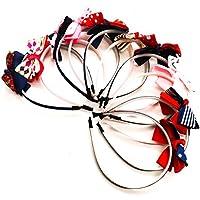 buorsa 10pcsかわいい子供のファッションの女の子のヘアフープリボンヘッドバンドヘアアクセサリー、ヘッドバンドヘア。