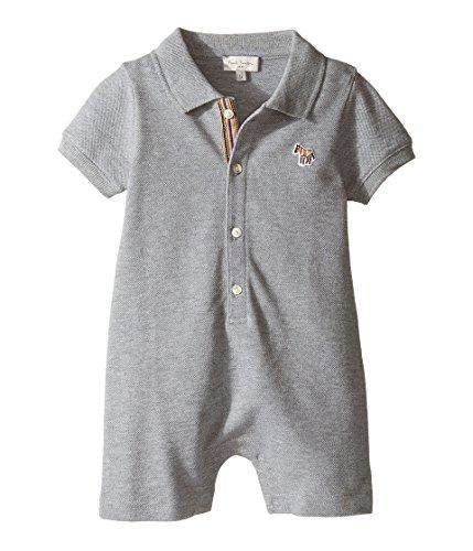 [ポールスミス] Paul Smith Junior メンズ Short Sleeve Grey Pique Romper (Infant) ワンピース Grey Marl 3 Months [並行輸入品]