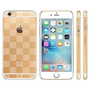 Highend berry amazon限定 iPhone 6s / 6 4.7インチ ストラップホール 付き ハード ケース チェッカード クリア