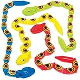 くねくね動くヘビ(5個入り)子どもたちのアクティビティ、パーティやゲームの景品に