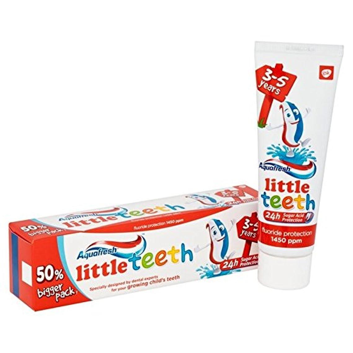 Aquafresh Little Teeth Toothpaste 75ml - アクアフレッシュ少し歯歯磨き粉75ミリリットル [並行輸入品]