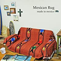 RUG&PIECE Mexican Fish Blanket made in mexico フィッシュ柄 メキシカンラグ メキシコ製 200cm×120cm (rug-6661)