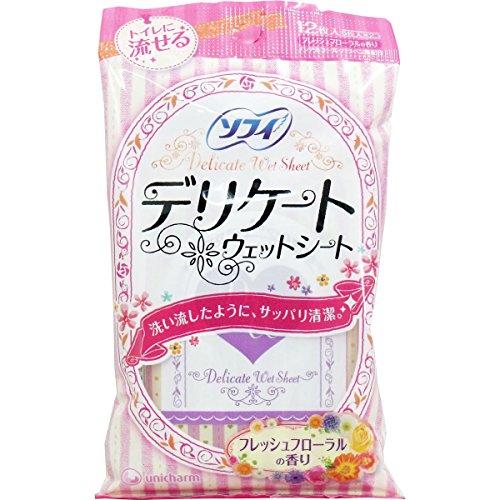 ソフィ Sofy ソフィ デリケートウェットシート フレッシュフローラルの香り 6枚×2