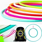 Play Perfect Naked Hula Hoops + Flames N Games® Travel Bag. Weighted Travel Hula Hoop (100cm/39') Hula Hoops for Exercise, Dance & Fitness! (350g) NO Instructions Needed - Same Day Dispatch!