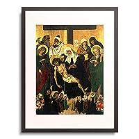 Breslauer Maler,vor 1494 「Beweinung Christi unter dem Kreuz Epitaph fur Banka und Hedwig Czach aus.」 額装アート作品