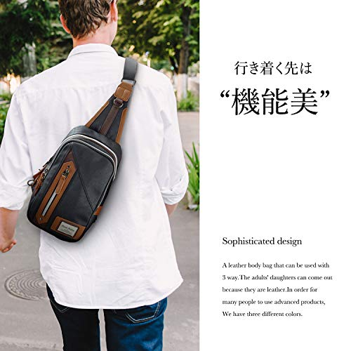 111dd02bcbc9 RONDE 斜めがけ ボディバッグ ワンショルダー メンズ キャメル|日本商品 ...