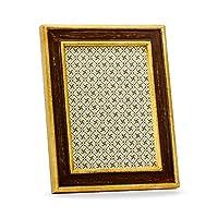 Avola Woodイタリアンフレーム、手作りのクラシックイタリアンスタイル、5インチ7インチ写真、ギフト用の箱、ブラウン