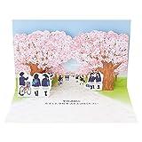 サンリオ 入園入学カード ポップアップ 青空に桜 S2116