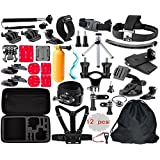 BlueWind Accessory Kit for GoPro Session 5/GoPro Hero 6/GoPro Hero 5/GoPro Hero 4/Hero 3+/3/2/HD Xiaomi Yi Apeman A80 A70 Action Camera Accessory Kit 50 in 1 Essential Bundle Kit