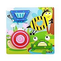 【ノーブランド品】 カラフル 木製 パズル ブロック ジグソーパズル 赤ちゃん 子供 知育玩具 贈り物 全6タイプ  - #3