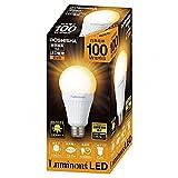 ルミナス LED電球 口金直径26mm 100W相当 電球色 広配光タイプ 密閉器具対応