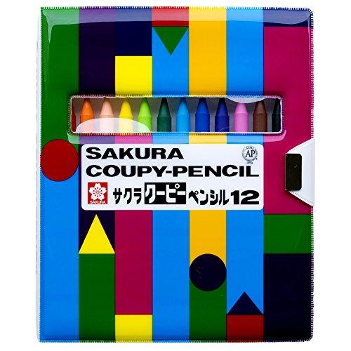 サクラクレパス 色鉛筆 クーピー 12色 ソフトケース入り