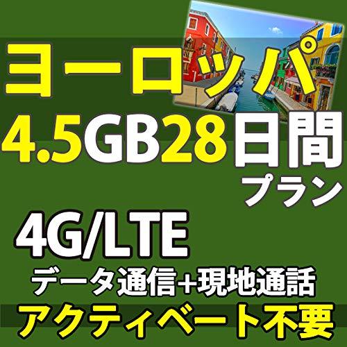 お急ぎ便ヨーロッパ 周遊 プリペイド SIMカード 4G データ 通信