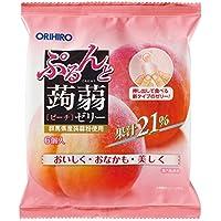 オリヒロ ぷるんと蒟蒻ゼリー ピーチ (20g×6個)×6袋