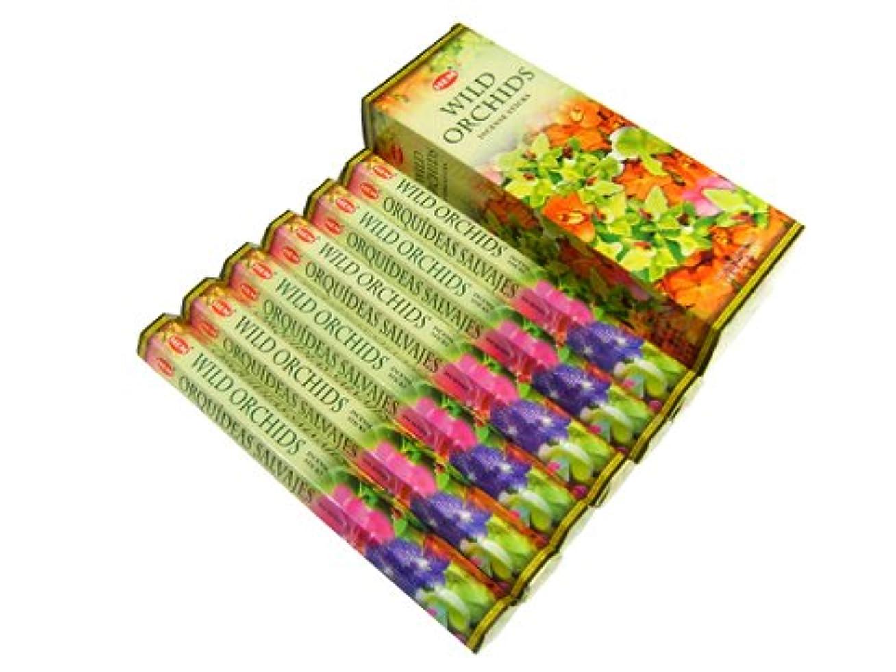 不正直伝染病挽くHEM(ヘム)社 ワイルドオーキッド香 スティック WILD ORCHIDS 6箱セット