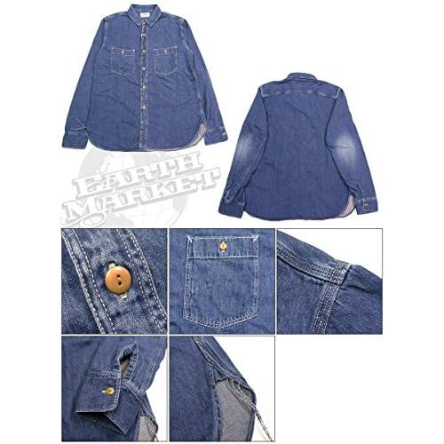 (スペルバウンド)SPELLBOUND ワークシャツ オーセンティック デニム ユーズドウォッシュ 46-102E 21-8 S.ユーズド 3 21-8Sユーズド