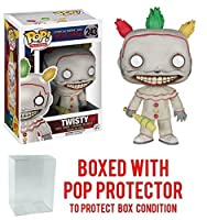 Funko POP 。TV : American Horror story- Season 4 – Twisty the Clown Vinyl Figure (バンドルwith Popボックスプロテクターケース)
