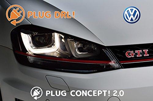 PLUG DRL! デイライト VW リカバリーモード搭載 GOLF7 BEETLE POLO PASSAT SHARON TOUAREG TIGAN 簡単設定