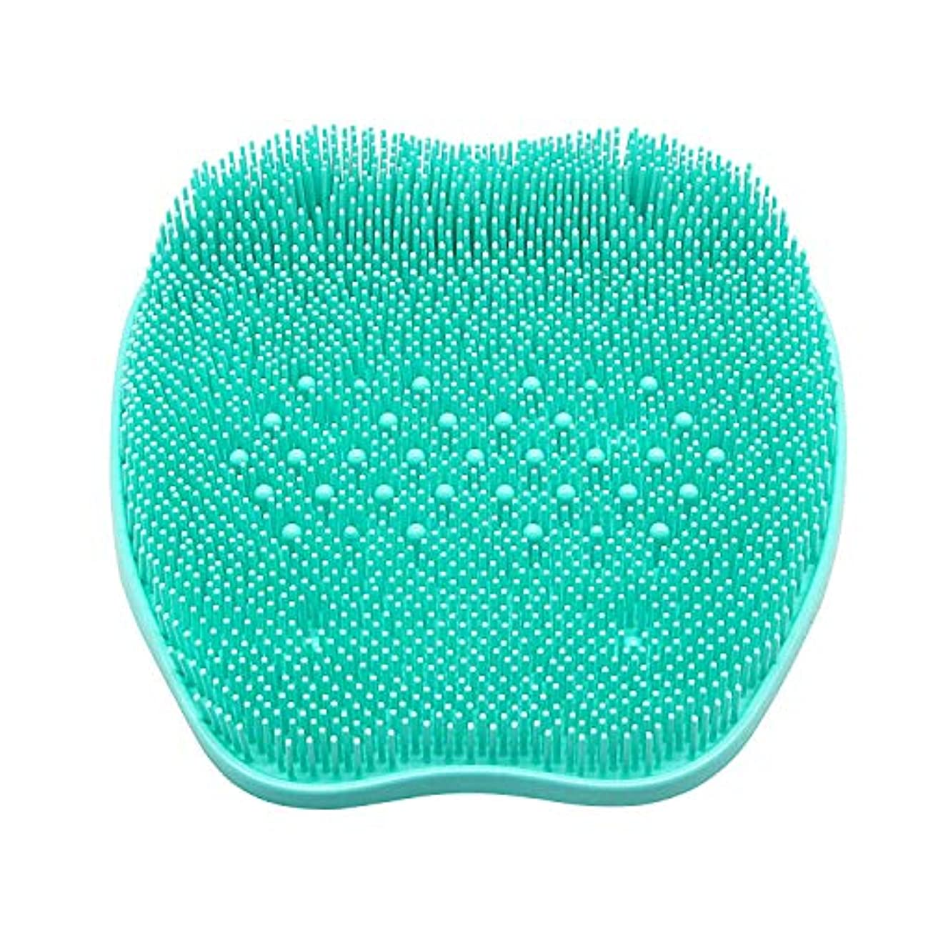 余分な有益な配偶者CERRXIAN フットブラシ 足洗いマット 足裏の血行促進 足裏爽快フットブラシ角質 臭い 防止、シリコンフットバーシュスクラバーマッサージャーシャワーフットブラシディープクリーンエクスフォリエイトスパが循環を促進(ビーズ、緑)