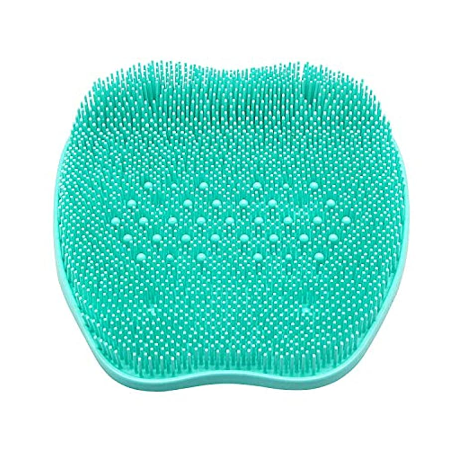 たるみ安価な少しCERRXIAN フットブラシ 足洗いマット 足裏の血行促進 足裏爽快フットブラシ角質 臭い 防止、シリコンフットバーシュスクラバーマッサージャーシャワーフットブラシディープクリーンエクスフォリエイトスパが循環を促進(ビーズ、緑)