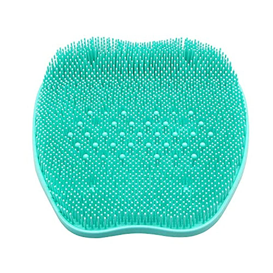 やけど肥満ステップCERRXIAN フットブラシ 足洗いマット 足裏の血行促進 足裏爽快フットブラシ角質 臭い 防止、シリコンフットバーシュスクラバーマッサージャーシャワーフットブラシディープクリーンエクスフォリエイトスパが循環を促進(ビーズ、緑)