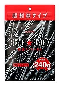 【Amazon.co.jp先行販売】ロッテ ブラックブラックタブレット(ストロングタイプ)大容量パウチ 240g