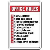 OfficeルールノベルティSignギフトボス月曜日から金曜日従業員ギャグ面白い職場 8