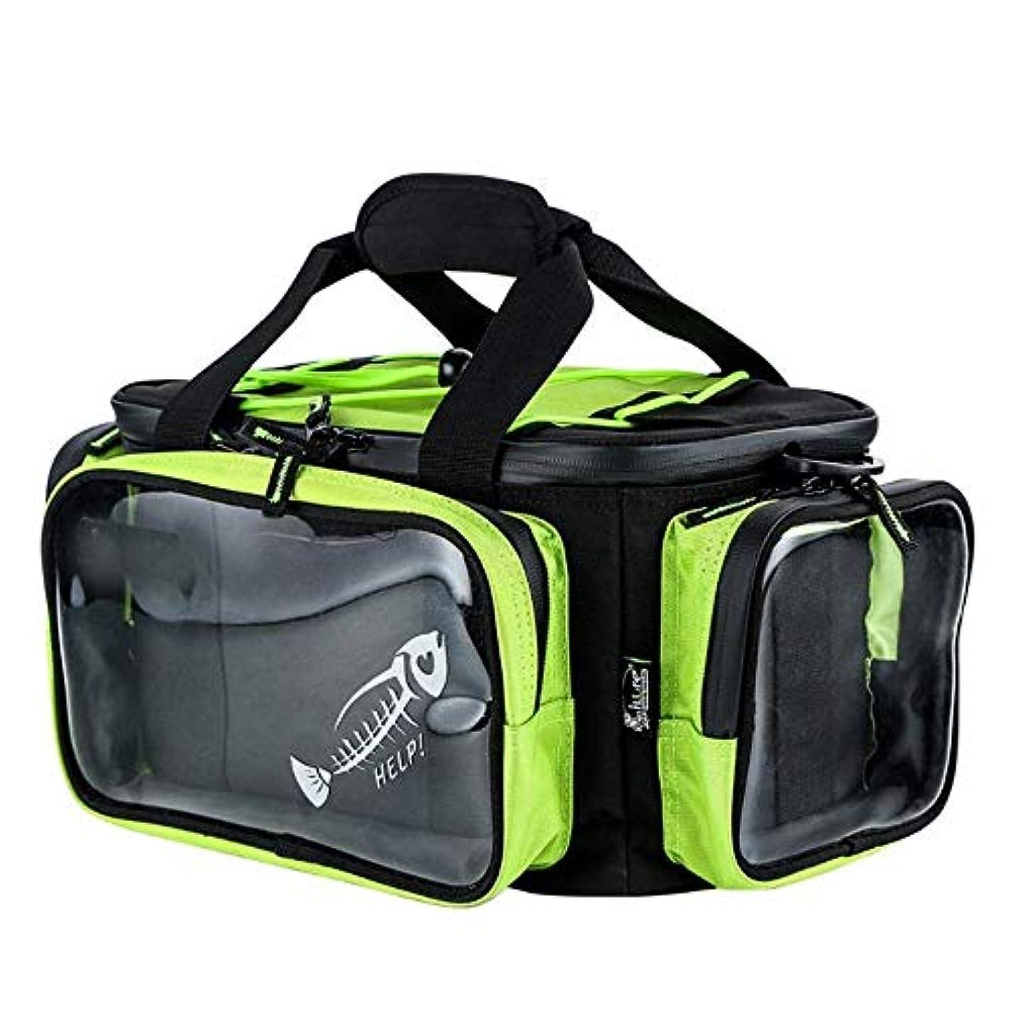 参照それにもかかわらず不条理釣りタックルバッグ、ポータブル多機能防水釣りユーティリティバッグ、リップストップPE付きアウトドアスポーツフィッシングショルダーバッグ、パッド入りショルダーストラップ。