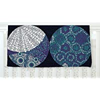 KESS InHouse Laura Nicholson Moons Blue Gray Fleece Baby Blanket 40 x 30 [並行輸入品]