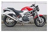 ダックスコーポレーション [WR'S] スーパーバイクフルエキゾースト チタンサイレンサー マフラー [VTR250(FI) '09~] 0-40-LT1204JM