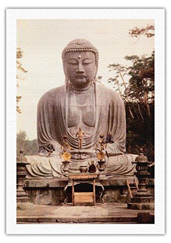 大仏、鎌倉 - 高徳院寺院、日本 - ビンテージな宗教的なア...